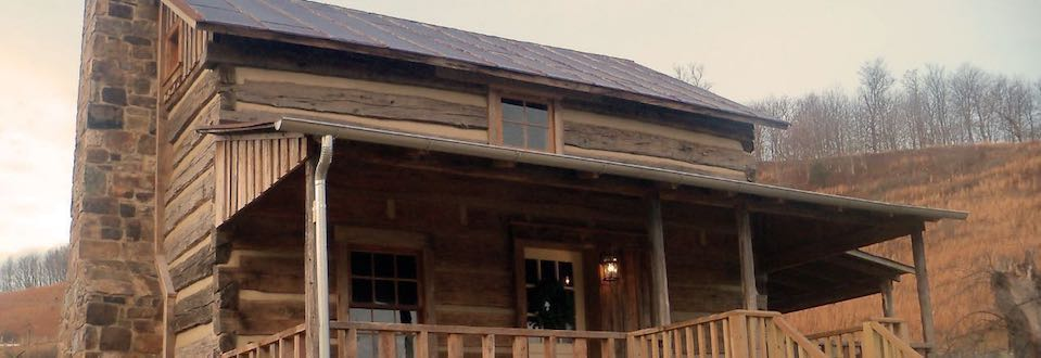 Big picture of Log Home - After restoration